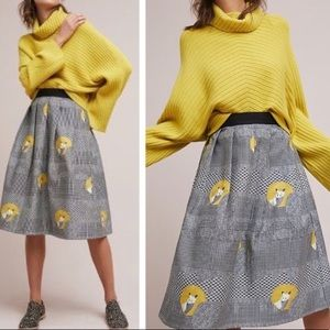 Anthropologie Eva Franco Foxy Houndstooth Skirt